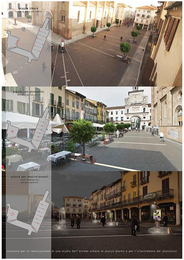 Un nuovo arredo urbano per crema archiroveri for Un arredo urbano